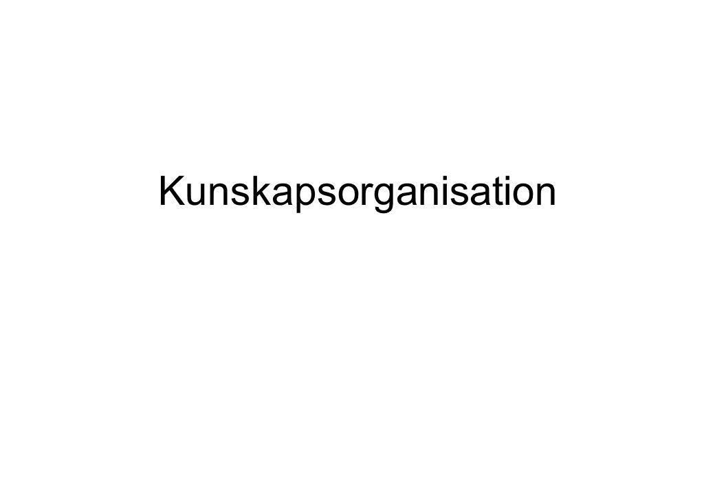 Kunskapsorganisation