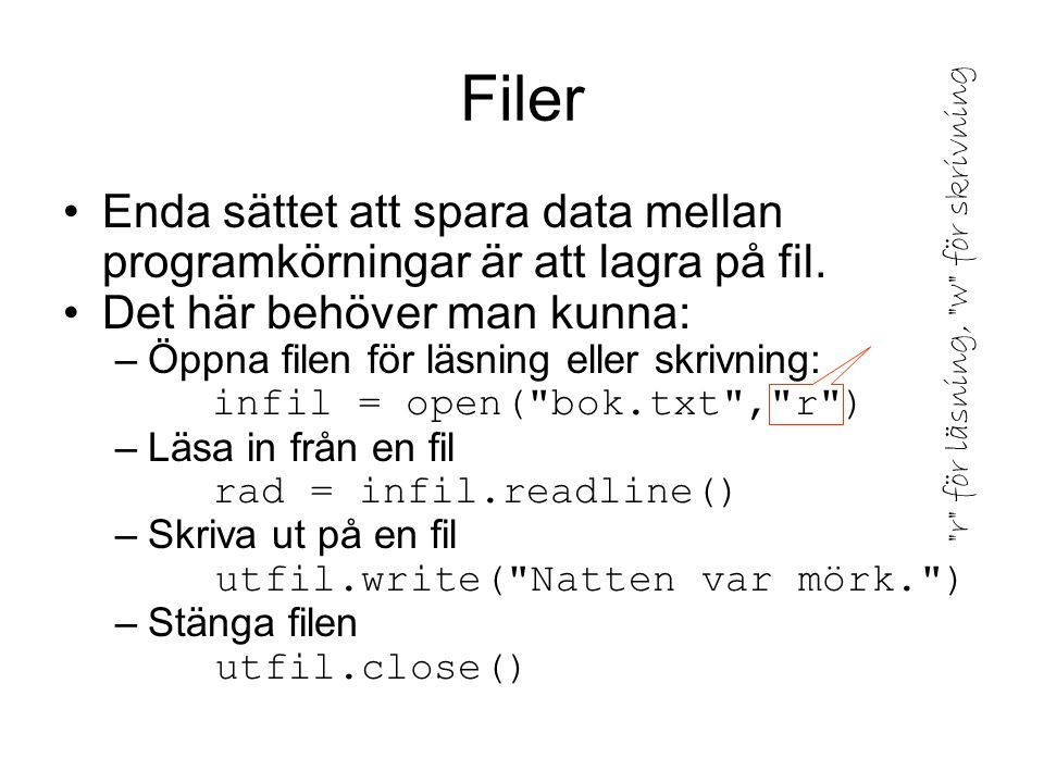 def next_block(the_file): Returnera nästa datablock från filen. category = next_line(the_file) question = next_line(the_file) answers = [] for i in range(4): answers.append(next_line(the_file)) correct = next_line(the_file) if correct: correct = correct[0] explanation = next_line(the_file) return category, question, answers, correct, explanation