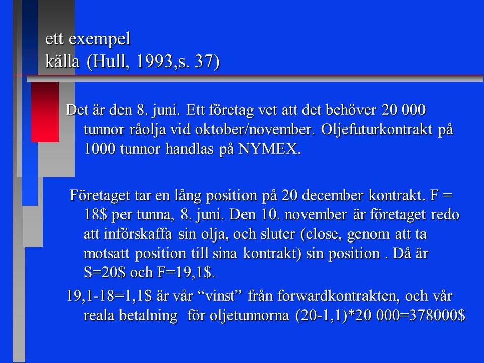 ett exempel källa (Hull, 1993,s. 37) Det är den 8.