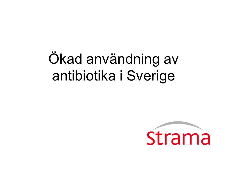 Ökad användning av antibiotika i Sverige