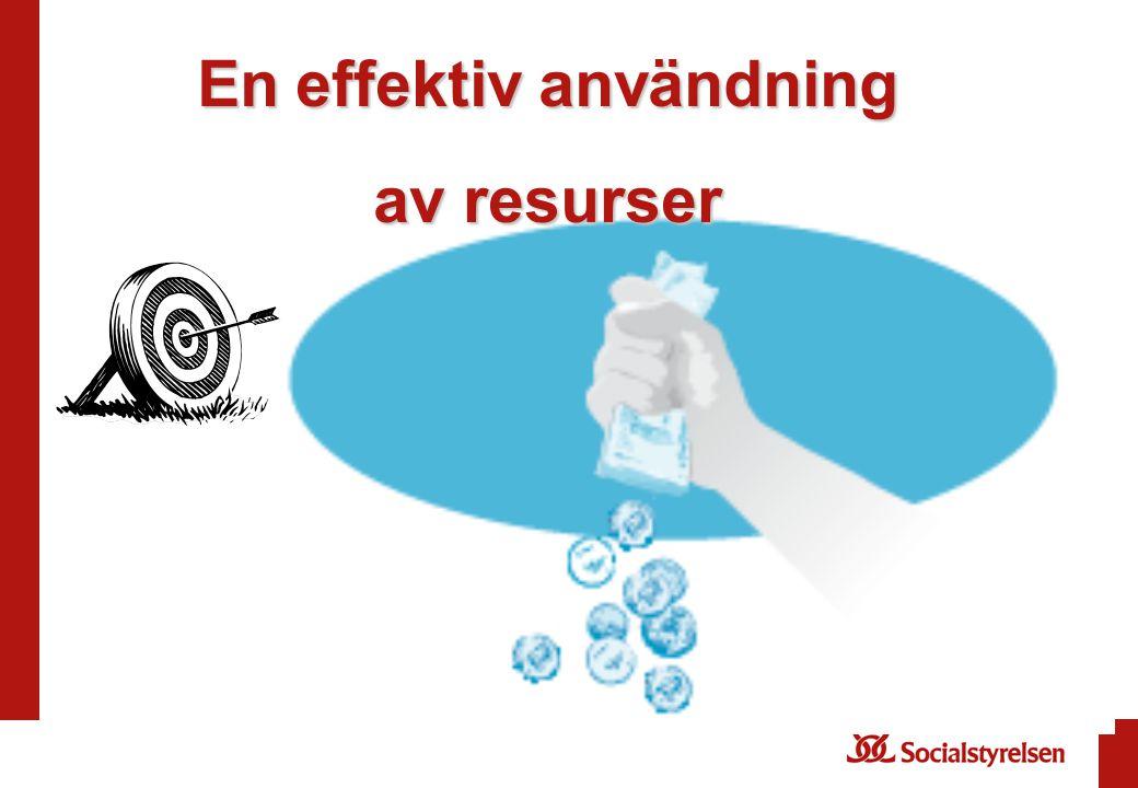Eneffektiv användning En effektiv användning av resurser
