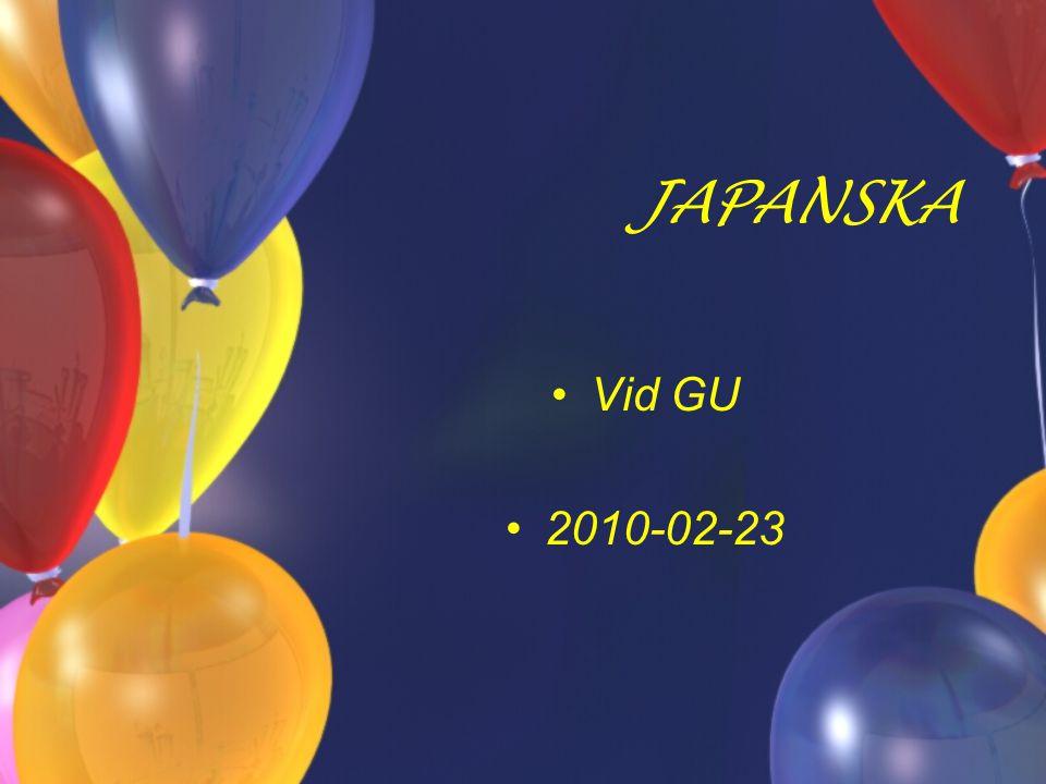 JAPANSKA Vid GU 2010-02-23