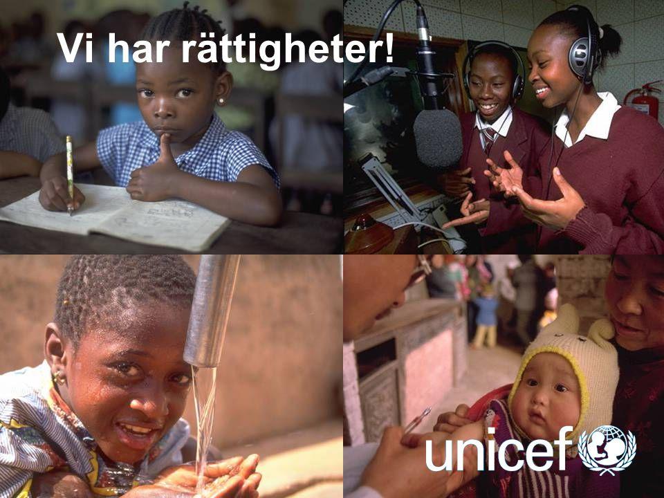 UNICEF Konventionens viktiga tilläggsprotokoll Tilläggsprotokollet om Barn i väpnade konflikter: nedre åldersgräns från 15 till 18 år.