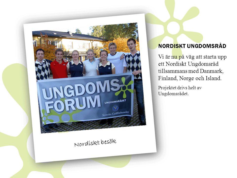 Nordiskt besök NORDISKT UNGDOMSRÅD Vi är nu på väg att starta upp ett Nordiskt Ungdomsråd tillsammans med Danmark, Finland, Norge och Island.
