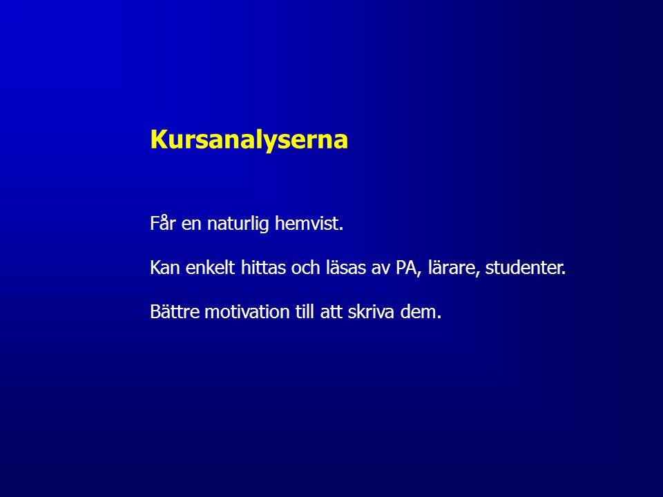 Kursutveckling Kronologi 1) UU december 2012 (positiva, önskade pilotkurser) 2) Inbjudan: presentation på UR-THS (feb 2013) 3) Kontakter med Lina Magdalinski, Åsa Lindström - KTH Social 4) Pilotkurser: SF1661, ED1100 och EH2010 5) Möte Elin och Pontus, THS Utbildningsinflytande (april 2014) 6) UU-möte (juni 2014)