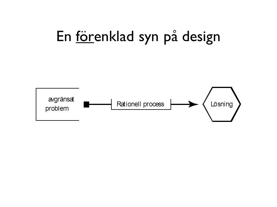 En förenklad syn på design avgränsat problem LösningRationell process