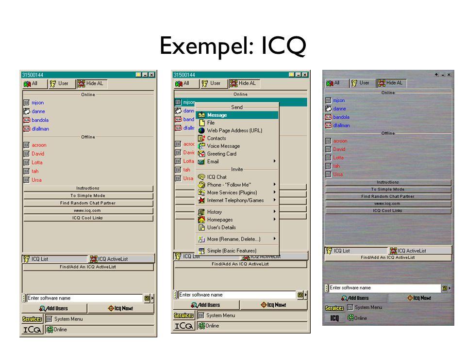 Exempel: ICQ