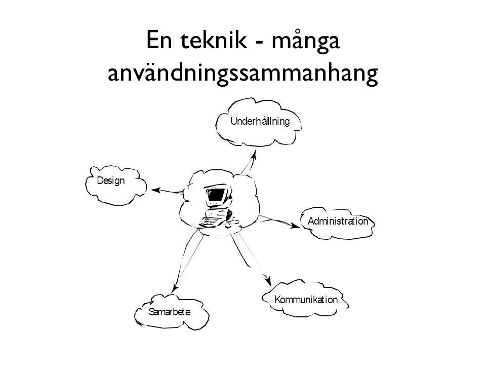 En teknik - många användningssammanhang