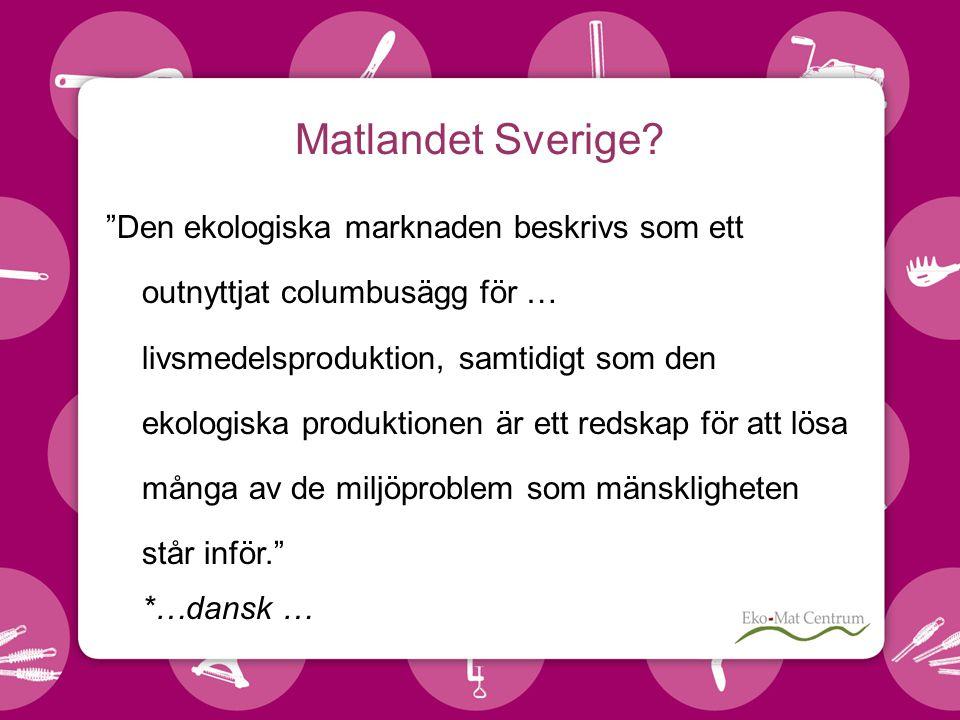 Matlandet Sverige.