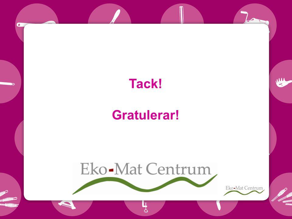 Tack! Gratulerar!
