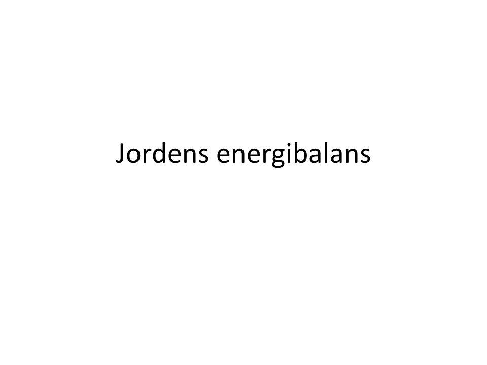 Jordens energibalans