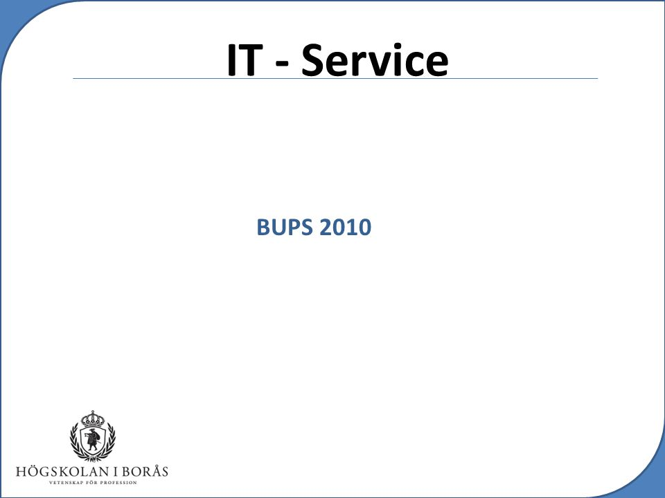 c IT - Service BUPS 2010