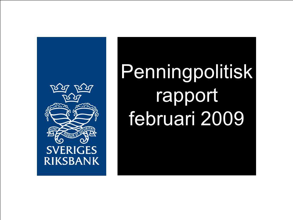 Penningpolitisk rapport februari 2009
