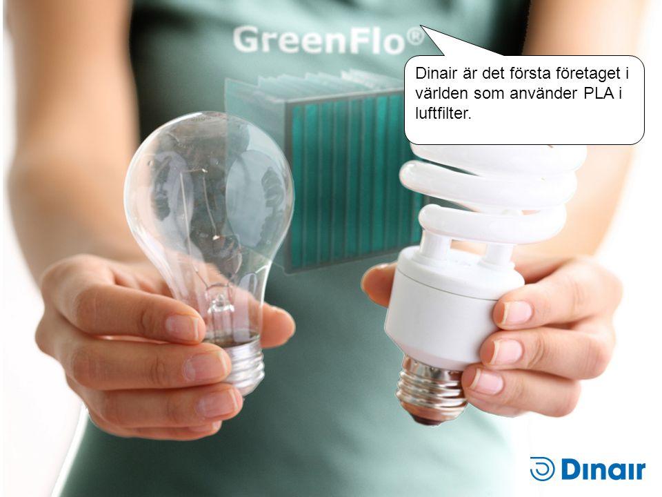 Dinair är det första företaget i världen som använder PLA i luftfilter.
