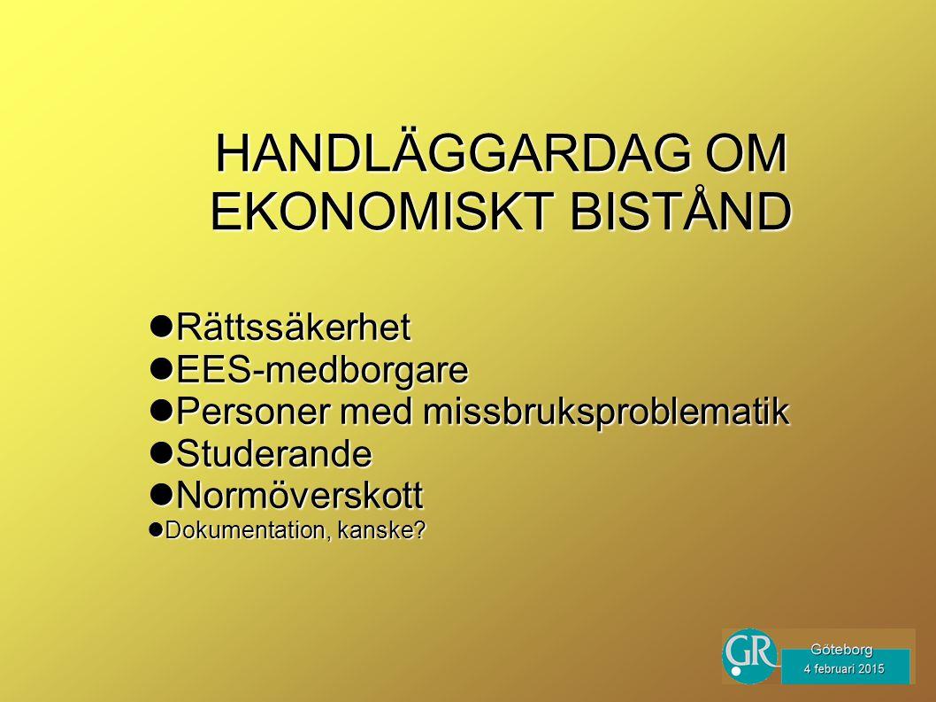 Rättssäkerhet Rättssäkerhet EES-medborgare EES-medborgare Personer med missbruksproblematik Personer med missbruksproblematik Studerande Studerande Normöverskott Normöverskott Dokumentation, kanske.