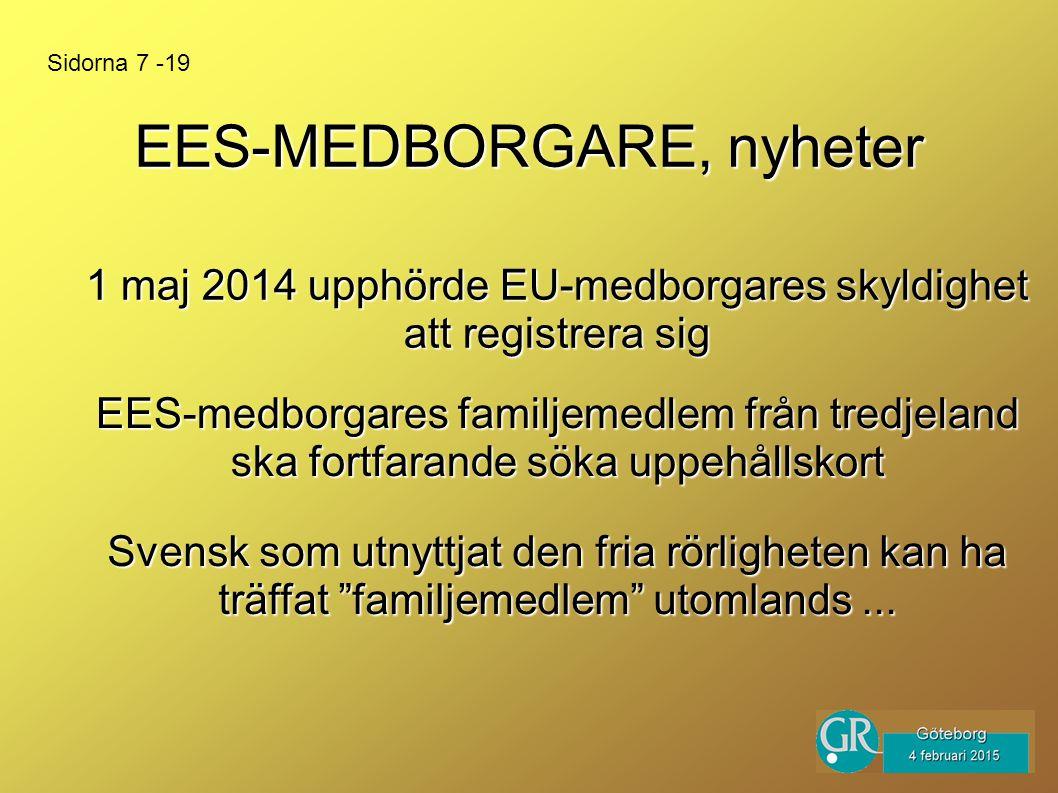 EES-MEDBORGARE, nyheter Svensk som utnyttjat den fria rörligheten kan ha träffat familjemedlem utomlands...