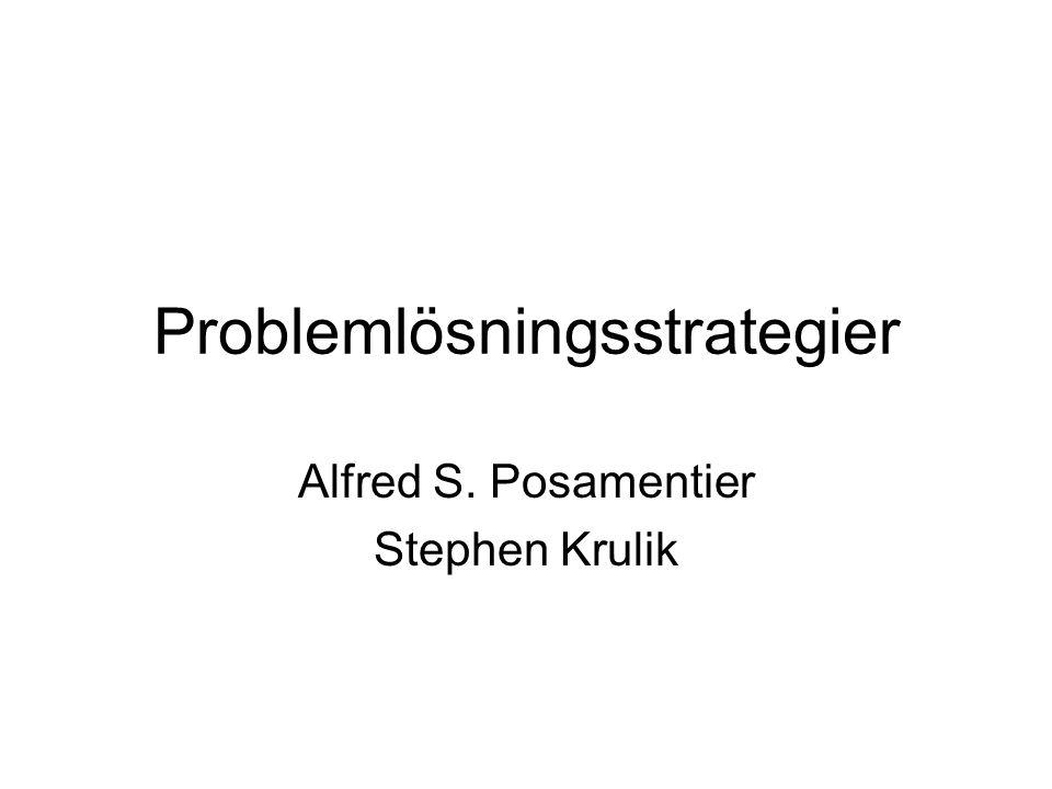 Problemlösningsstrategier Alfred S. Posamentier Stephen Krulik