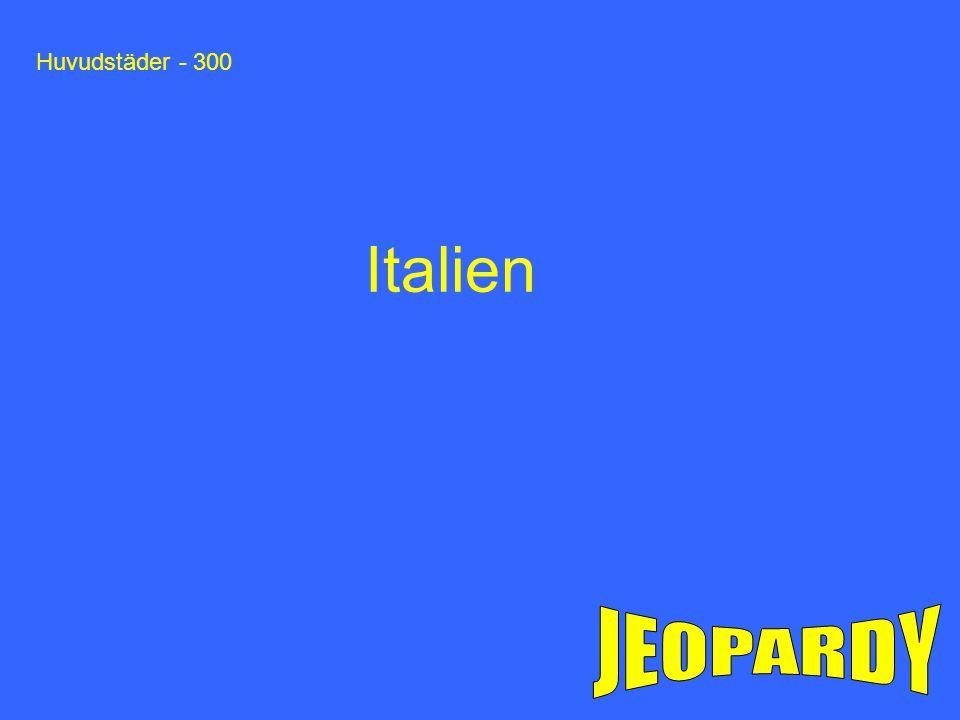 Huvudstäder - 300 Italien