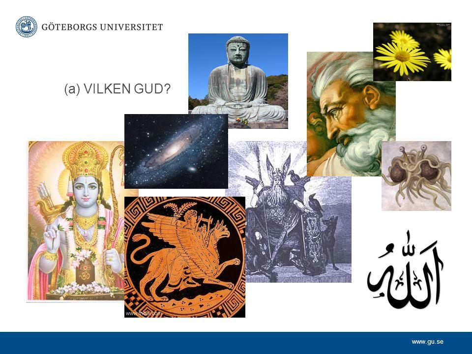 www.gu.se DEN ABRAHAMITISKA TRADITIONEN Judendom - Kristendom - Islam Det finns en Gud som är (1)bortom denna värld (immateriell), (2) skapare av denna värld, och som är (3) allsmäktig, (4) allvetande, (5) allgod, (och därmed 6) värd vår vördnad
