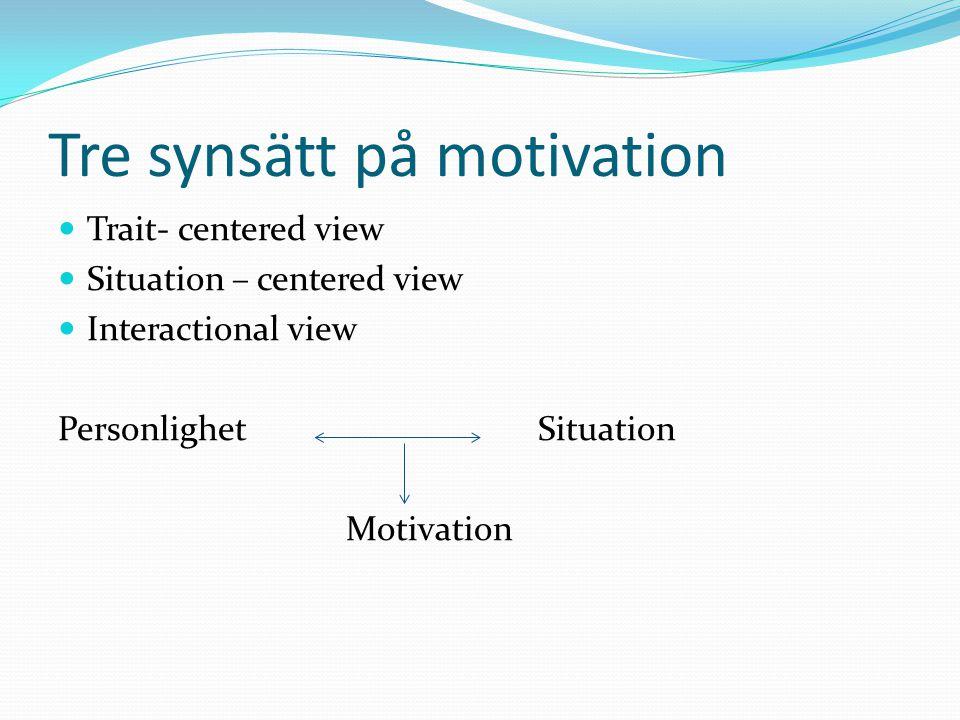 Achievement motivation Achievement motivation refers to a persons efforts to master a task, achieve excellence, overcome obstacles… Murray 1983 Fyra teorier som förklarar vad som motiverar oss att agera.
