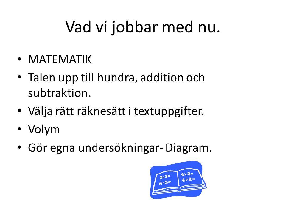 SVENSKA Träna läsförståelse i egen läsebok.Gemensam läsning i Läsdax/Skrivdax.