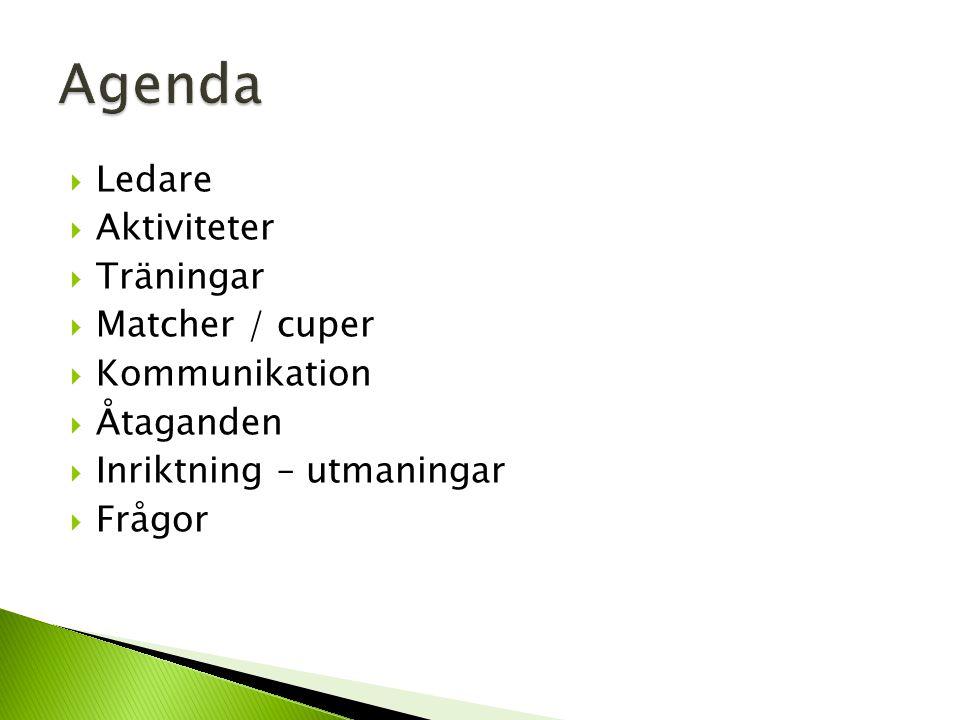  Vintersäsong – uppföljning ◦ Träningar x 4 (tot 17 killar) ◦ Cup x 1 (17 killar )  Utbildning ledare ◦ Avspark  Rollfördelning ledare ◦ Träningsplanering ◦ Poolspel planering ◦ Poolspel arrangör ◦ Lithells Cup ◦ Nabben Cup