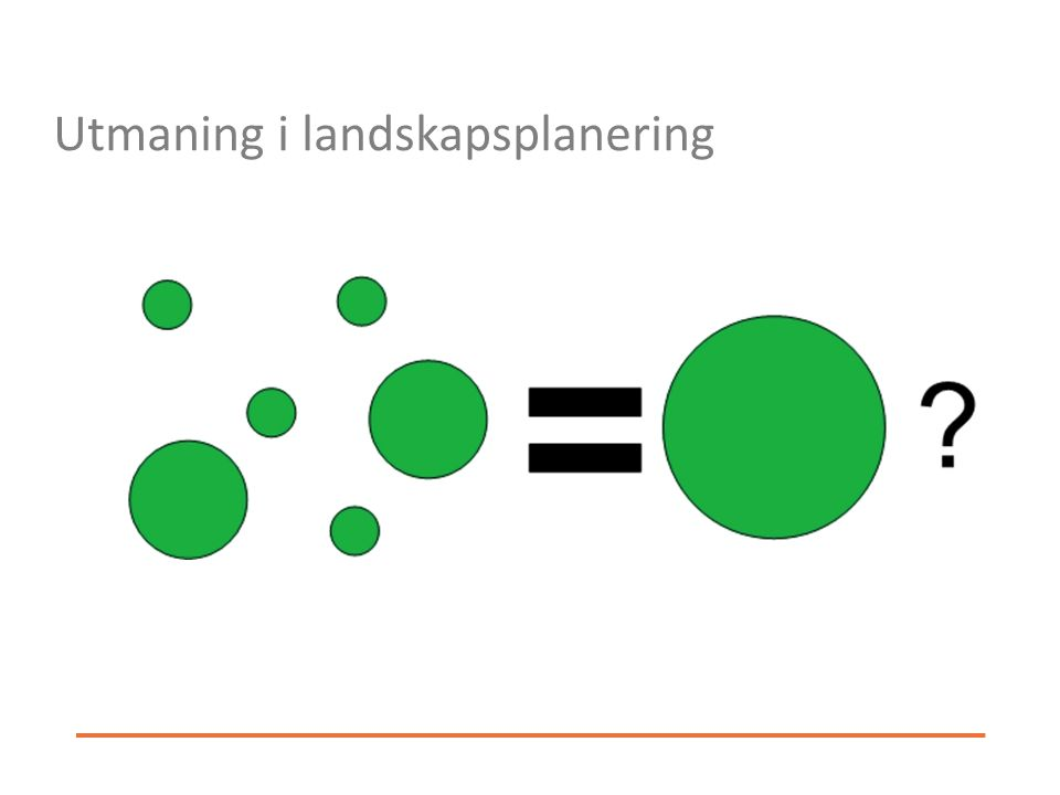 Utmaning i landskapsplanering
