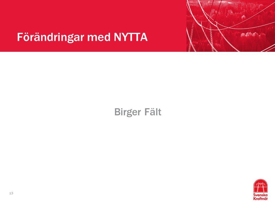 13 Förändringar med NYTTA Birger Fält