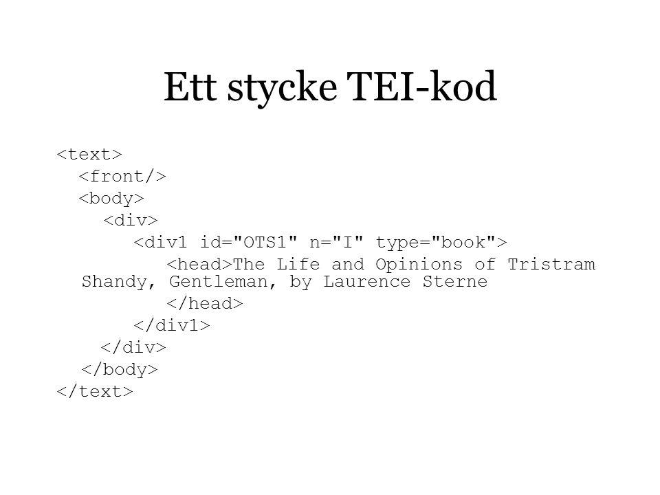 XSLT-kod Exempel 1