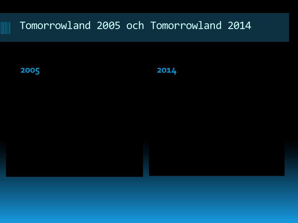 Tomorrowland 2005 och Tomorrowland 2014 20052014