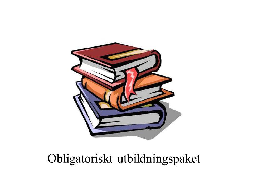 Obligatoriskt utbildningspaket