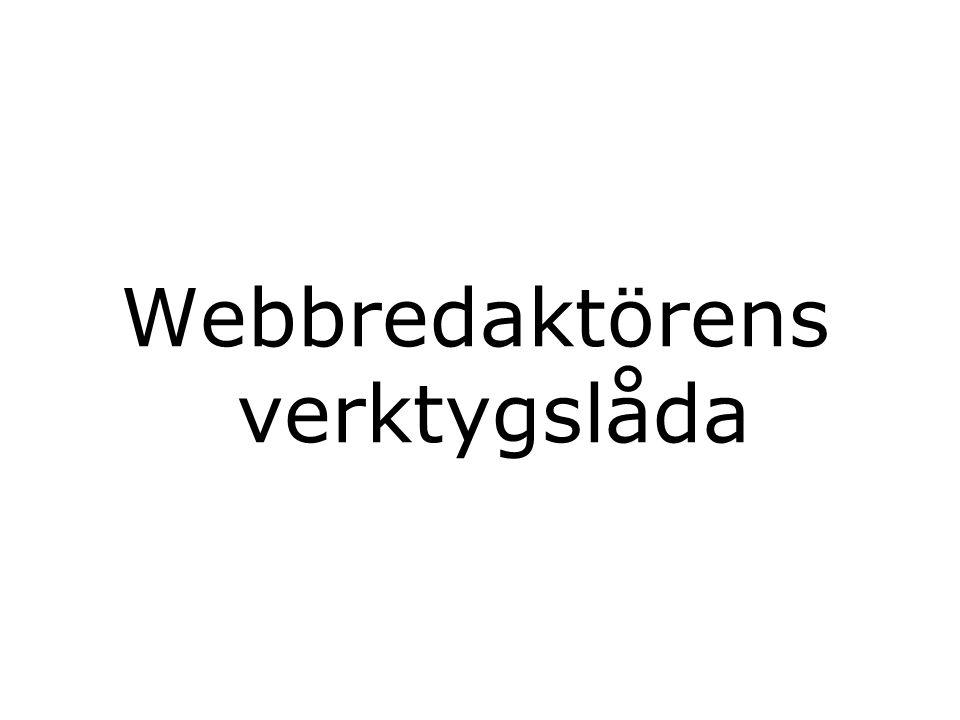 Webbredaktörens verktygslåda