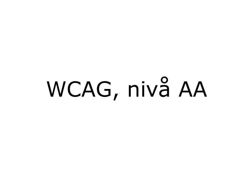 WCAG, nivå AA