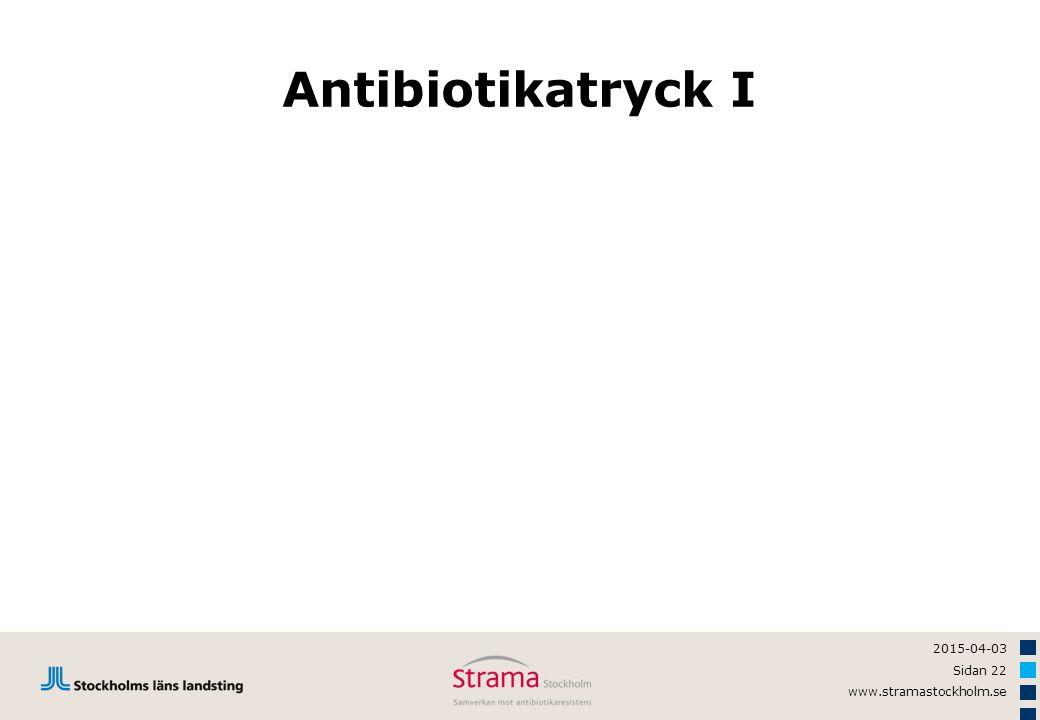 2015-04-03 Sidan 22 www.stramastockholm.se Antibiotikatryck I