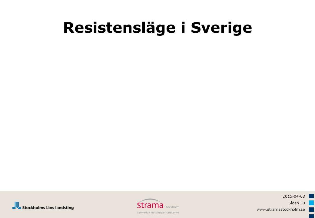 2015-04-03 Sidan 30 www.stramastockholm.se Resistensläge i Sverige
