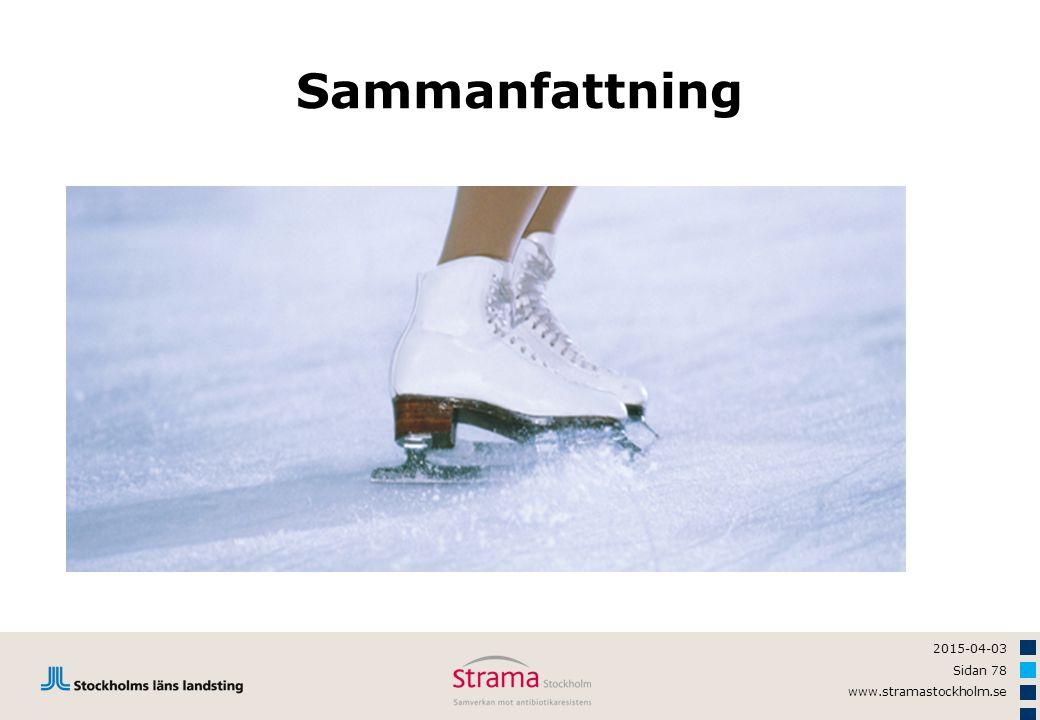 2015-04-03 Sidan 78 www.stramastockholm.se Sammanfattning