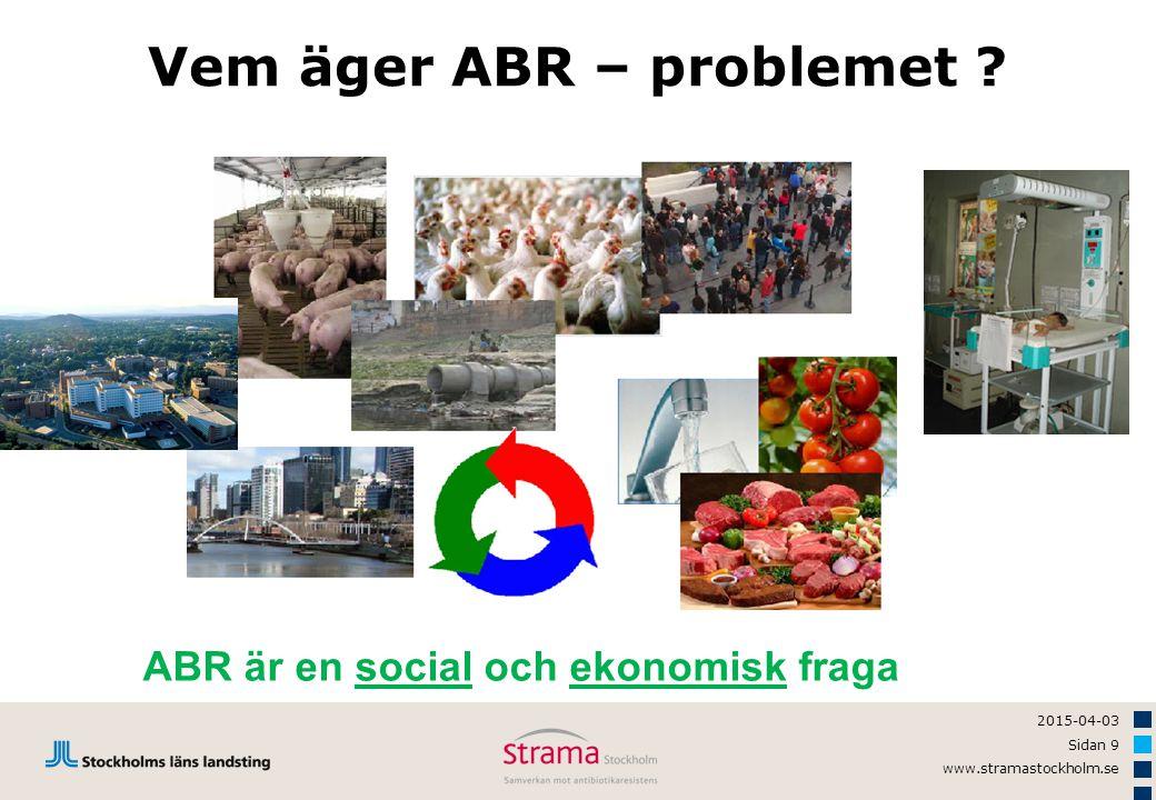 2015-04-03 Sidan 9 www.stramastockholm.se Vem äger ABR – problemet ? ABR är en social och ekonomisk fraga