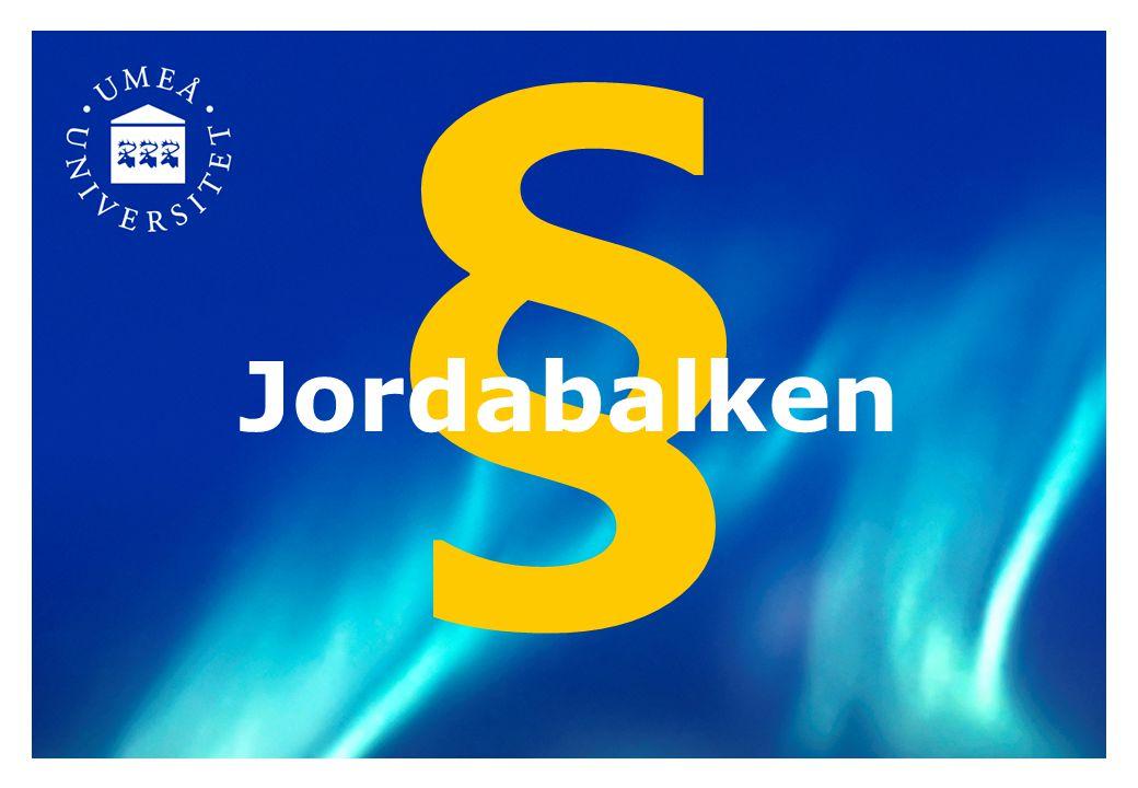 § Jordabalken