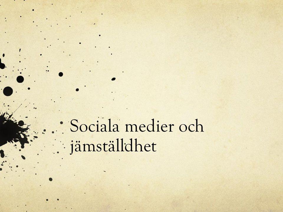 Sociala medier och jämställdhet
