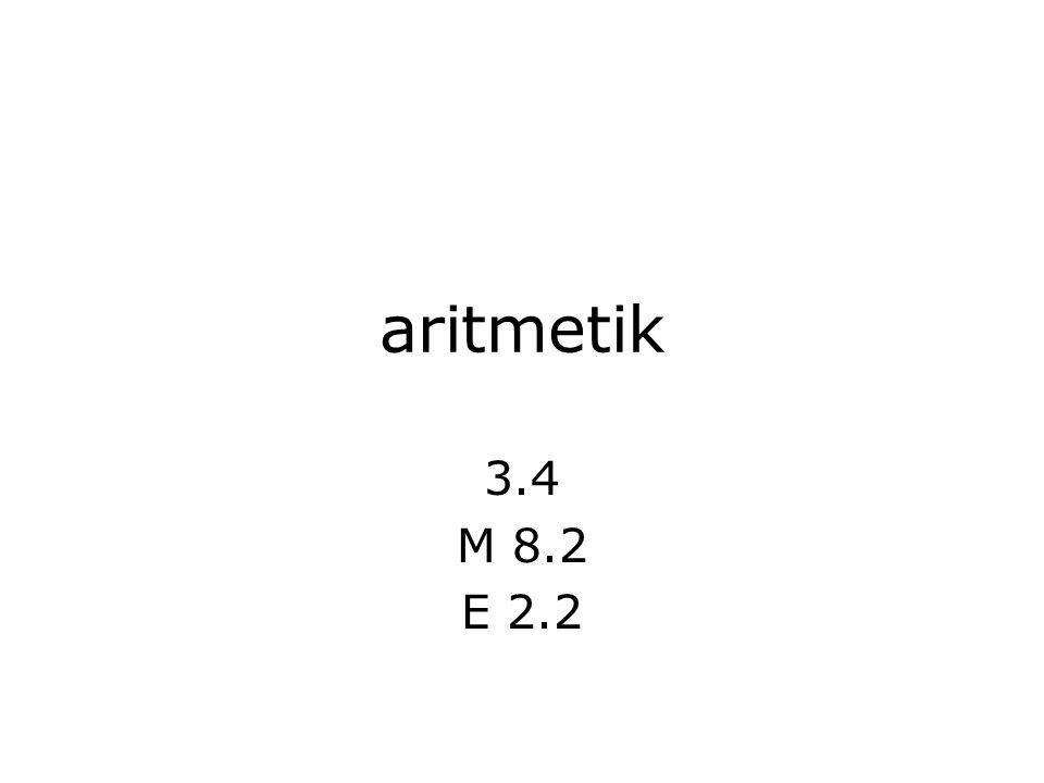 dagens föreläsning operatorer för aritmetik tillämpningar