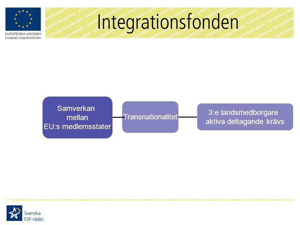 Samverkan mellan EU:s medlemsstater Transnationalitet 3:e landsmedborgare aktiva deltagande krävs