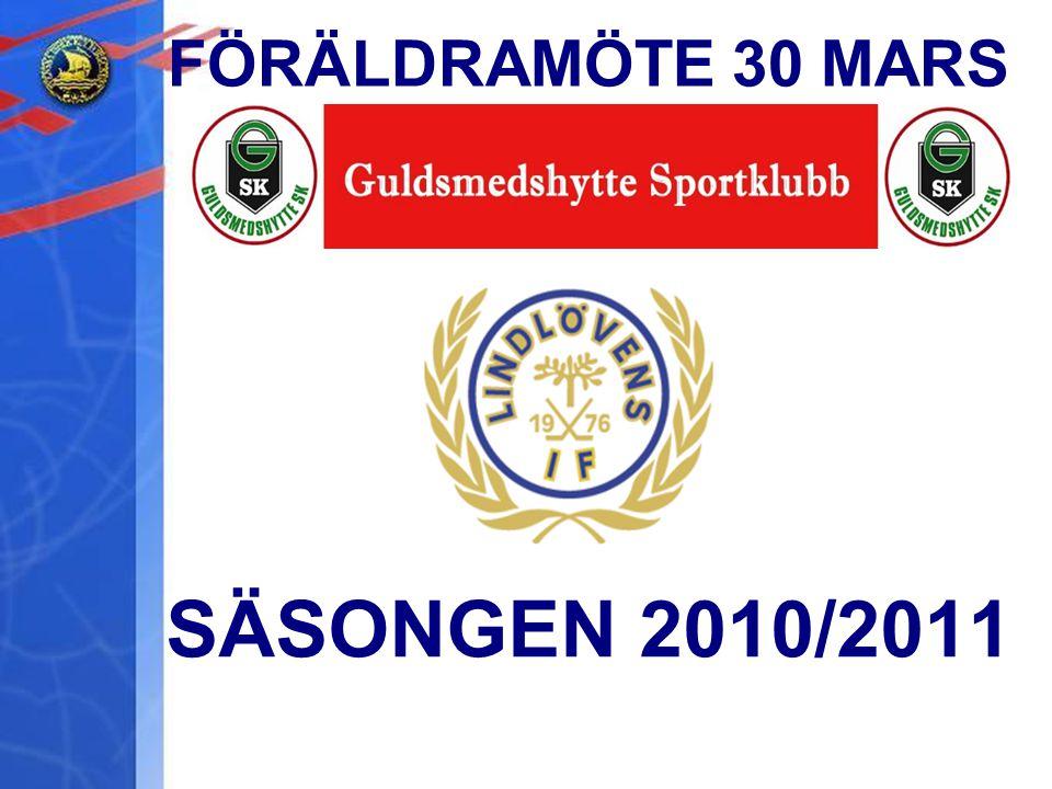 FÖRÄLDRAMÖTE 30 MARS SÄSONGEN 2010/2011