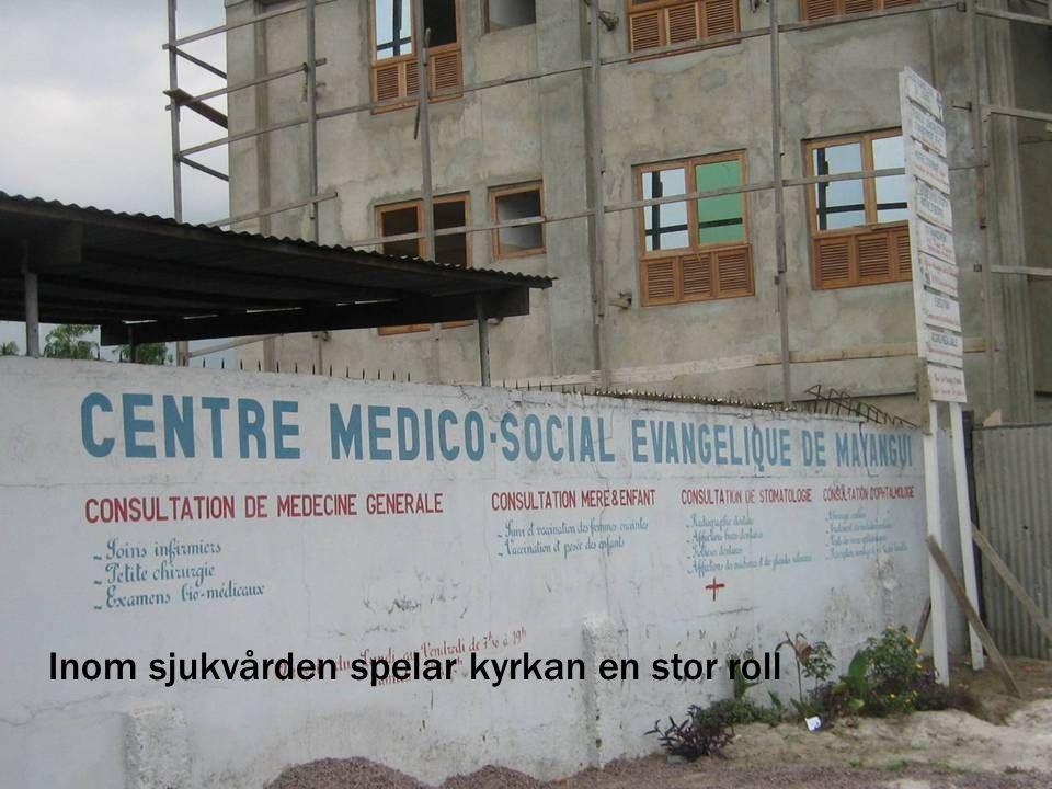 Inom sjukvården spelar kyrkan en stor roll