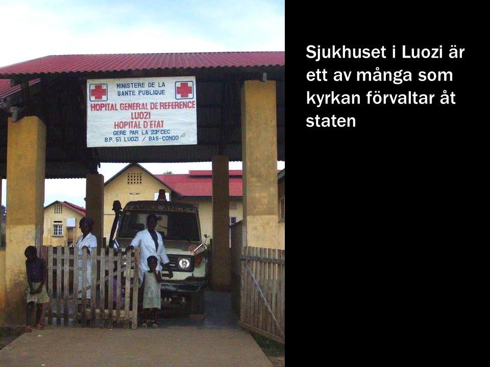 Sjukhuset i Luozi är ett av många som kyrkan förvaltar åt staten
