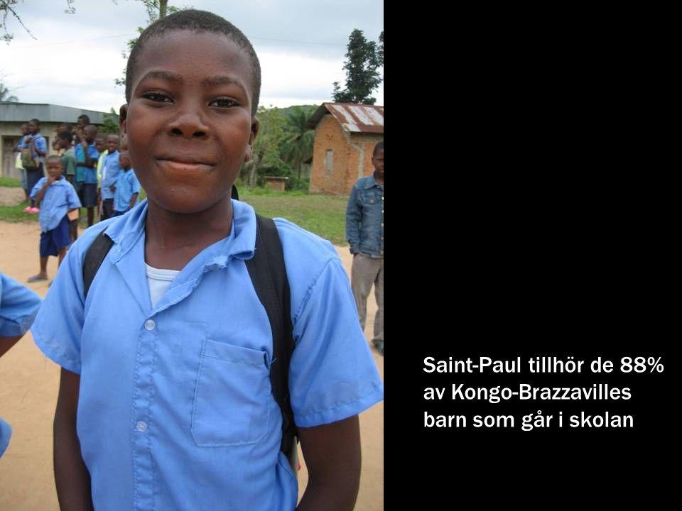 Saint-Paul tillhör de 88% av Kongo-Brazzavilles barn som går i skolan