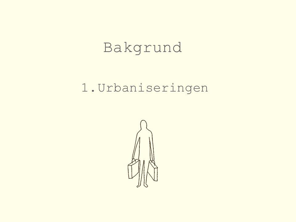 1.Urbaniseringen Bakgrund