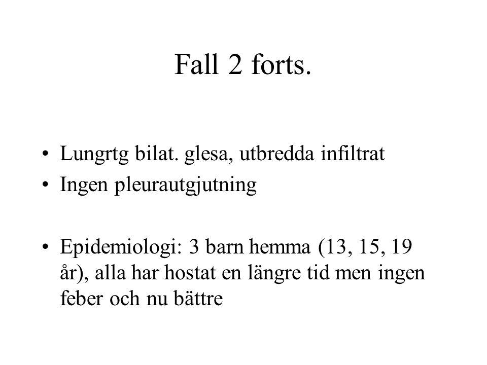 Fall 2 forts.Lungrtg bilat.