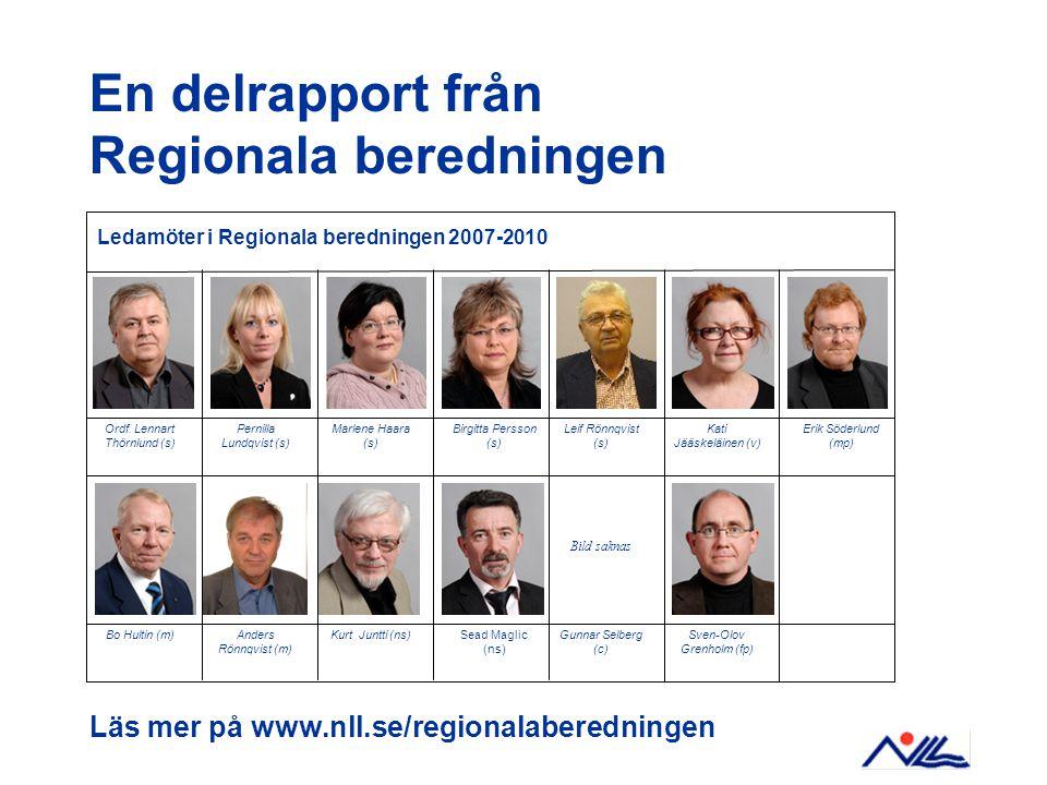 Läs mer på www.nll.se/regionalaberedningen Ledamöter i Regionala beredningen 2007-2010 Bild saknas Ordf.