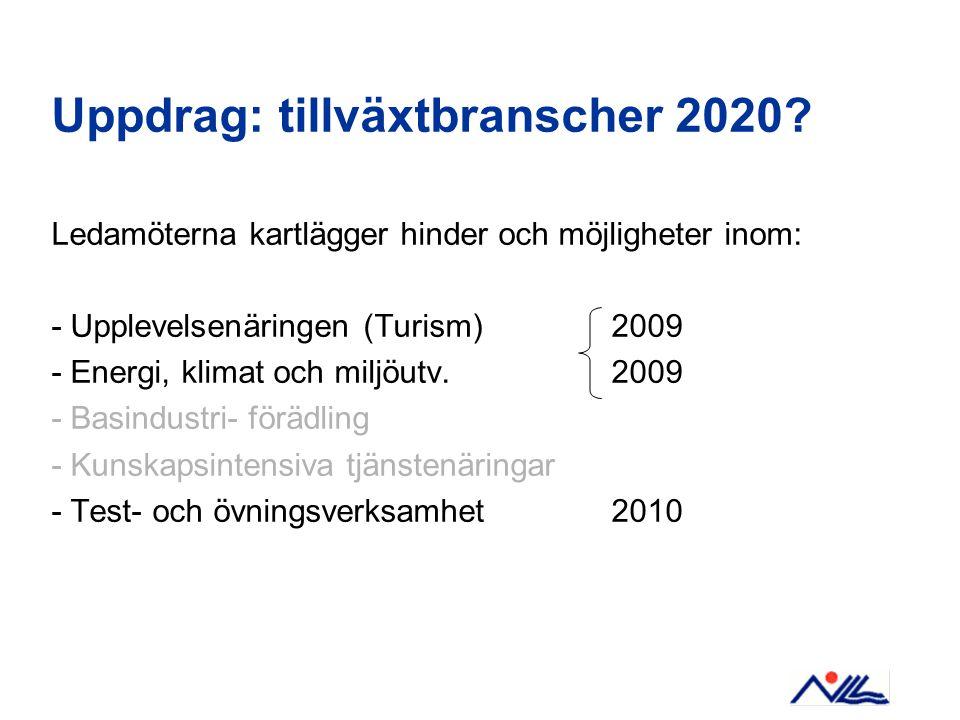 Uppdrag: tillväxtbranscher 2020.