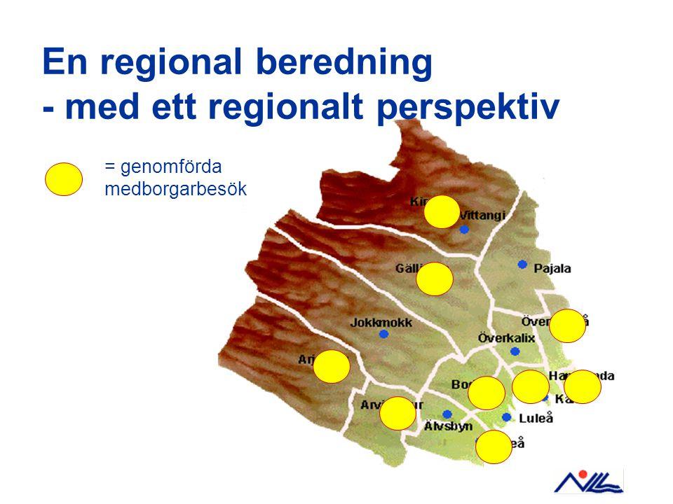 En regional beredning - med ett regionalt perspektiv = genomförda medborgarbesök